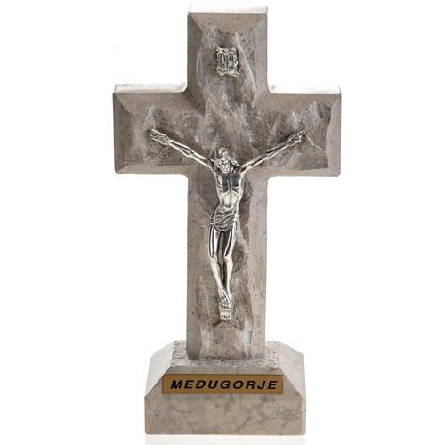 Croce Medjugorje marmo 19x10,5 1