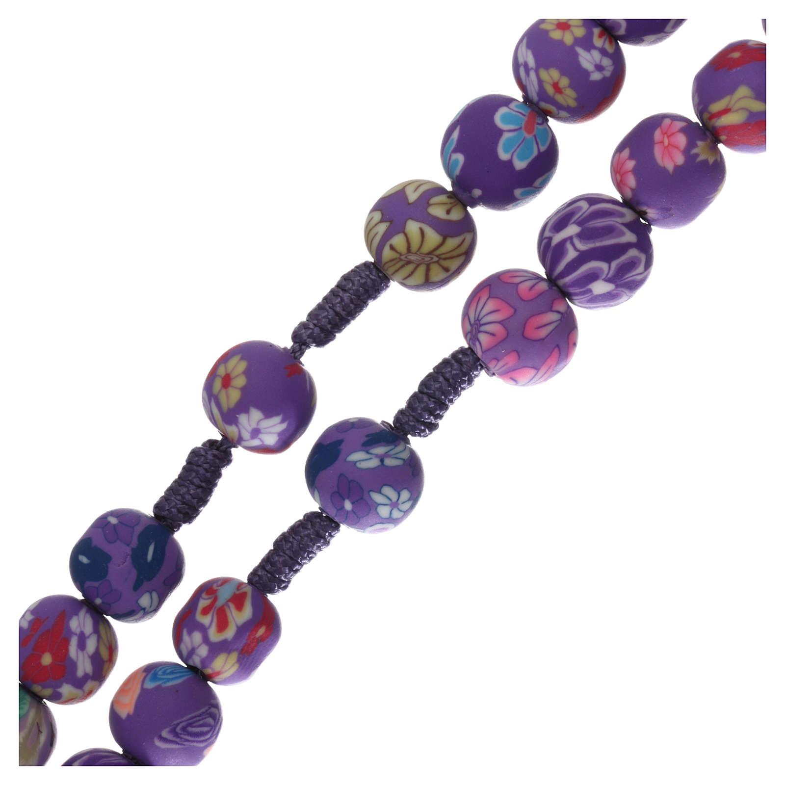 Chapelet Medjugorje fimo violet 4
