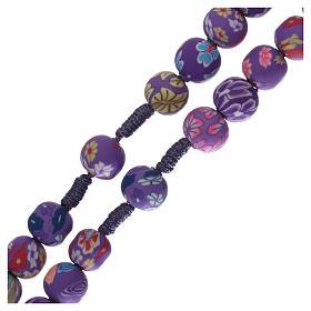 Chapelet Medjugorje fimo violet s3