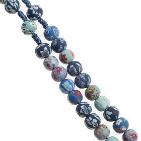 Medjugorje rosary in fimo, blue s3