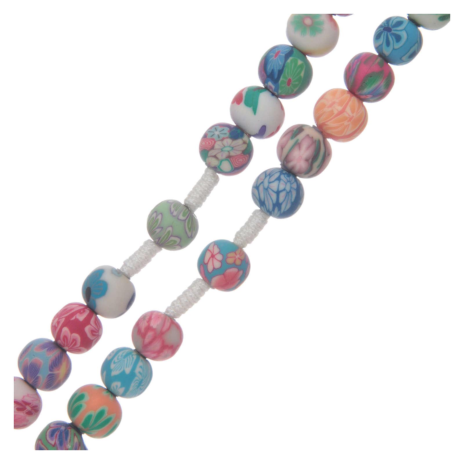 Terço Medjugorje fimo multicolore 4
