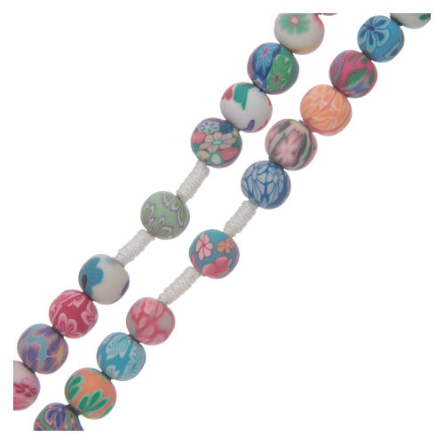 Medjugorje rosary in fimo, multicoloured 3