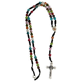 Medjugorje rosary with coloured hearts s4