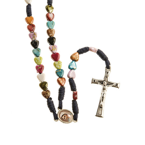 Medjugorje rosary with coloured hearts 1