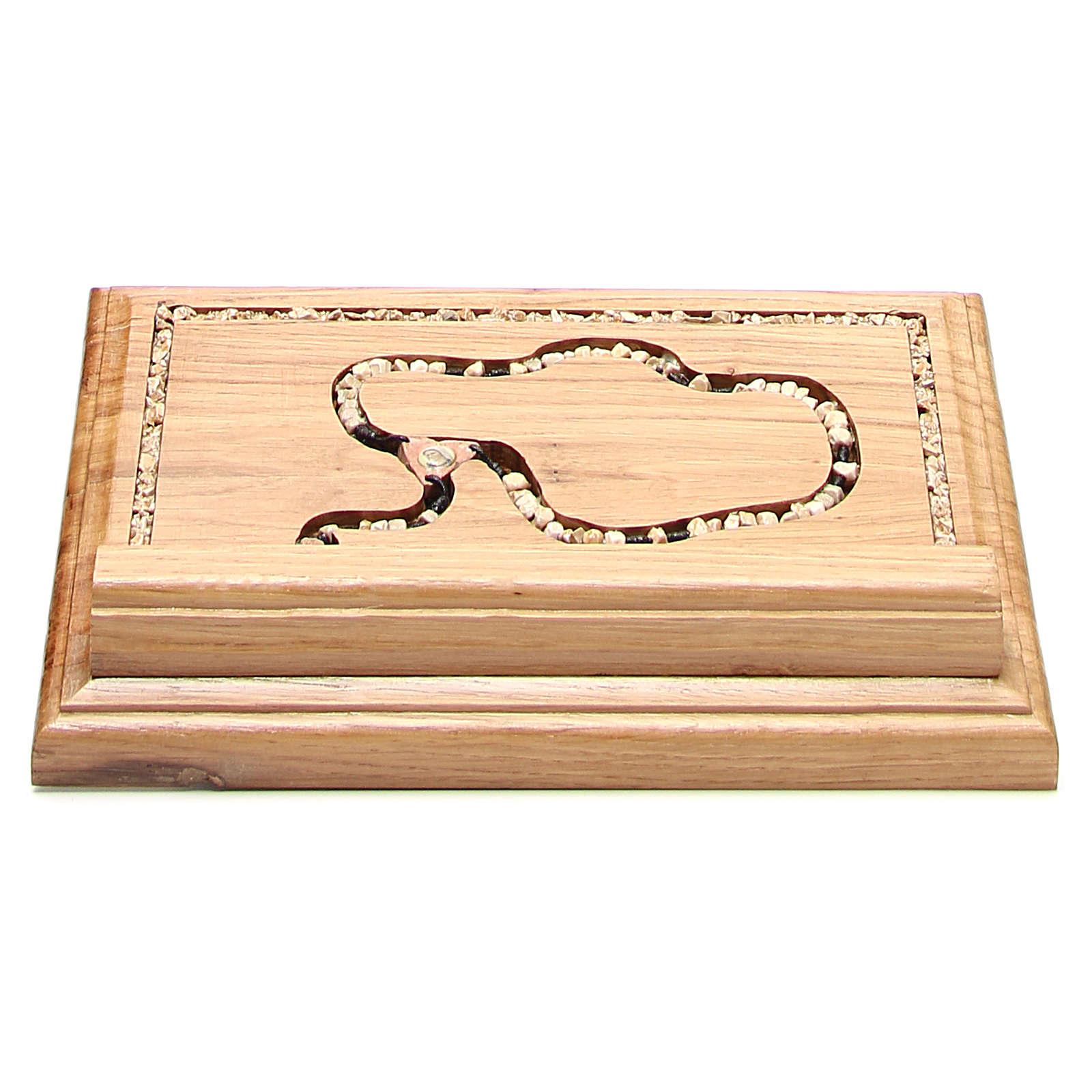 Leggio legno con rosario in pietra 4