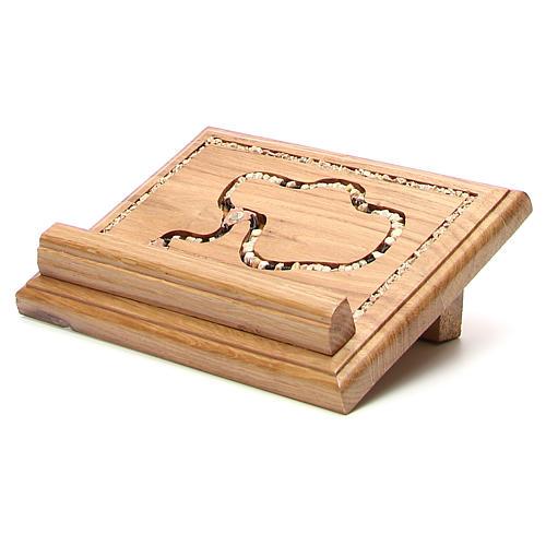 Leggio legno con rosario in pietra 7