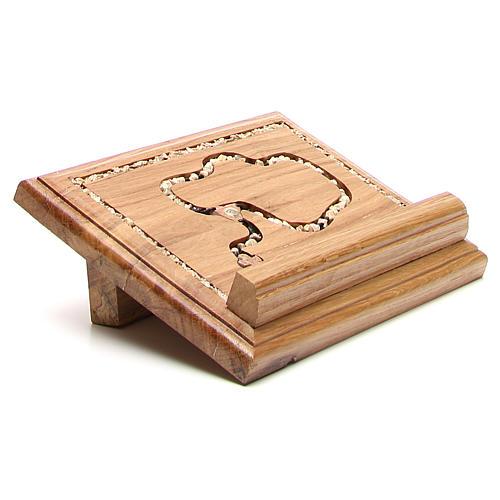 Leggio legno con rosario in pietra 9