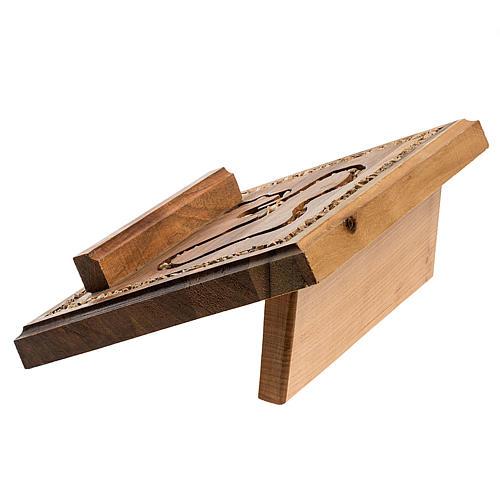 Leggio legno con rosario in pietra 5
