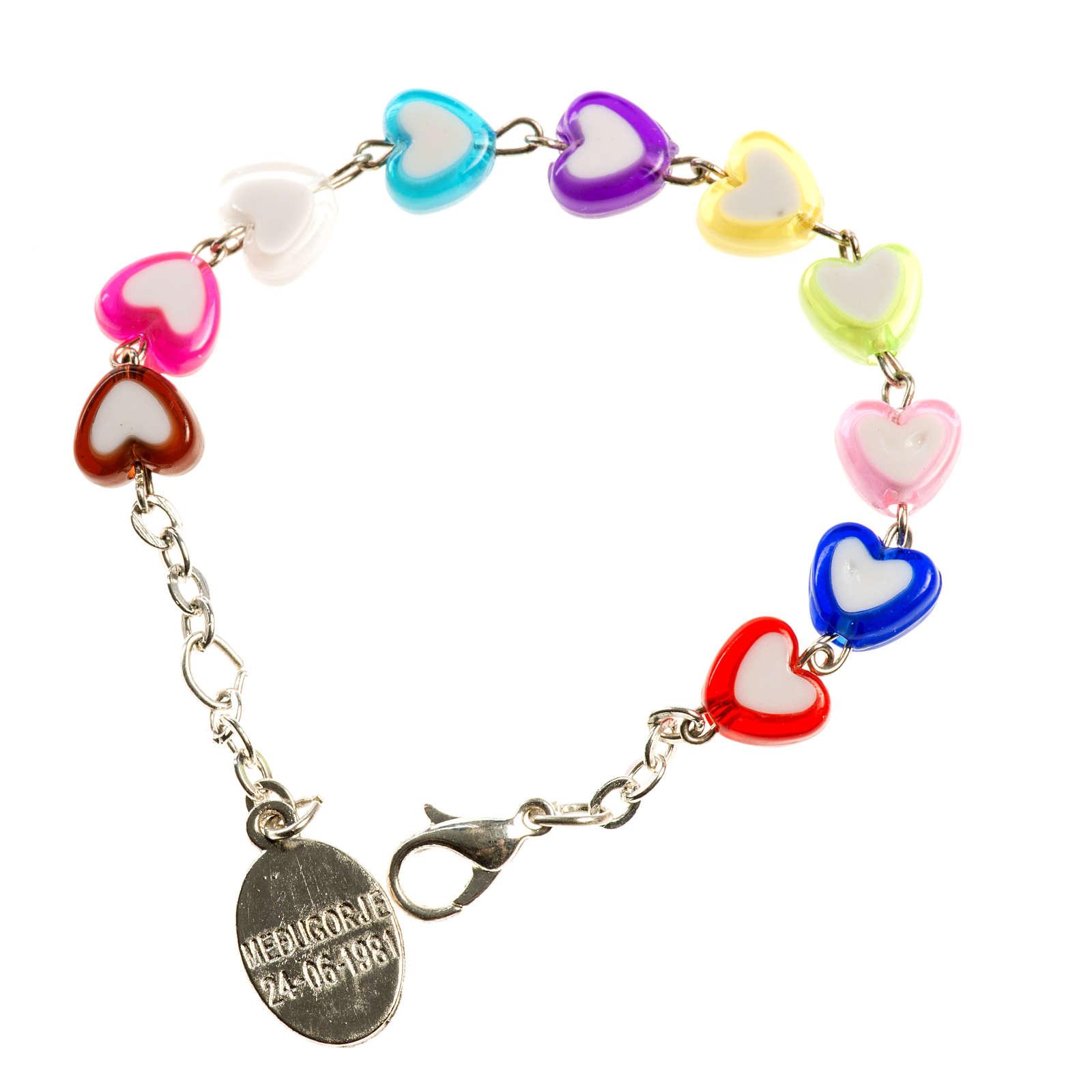 Bracelet pour enfants avec coeurs Medjugorje 4