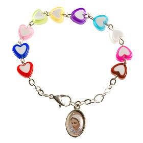 Bracelet pour enfants avec coeurs Medjugorje s1