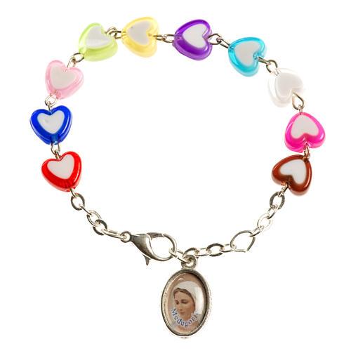 Bracelet pour enfants avec coeurs Medjugorje 1
