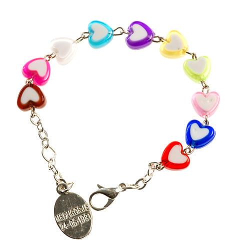 Bracelet pour enfants avec coeurs Medjugorje 2