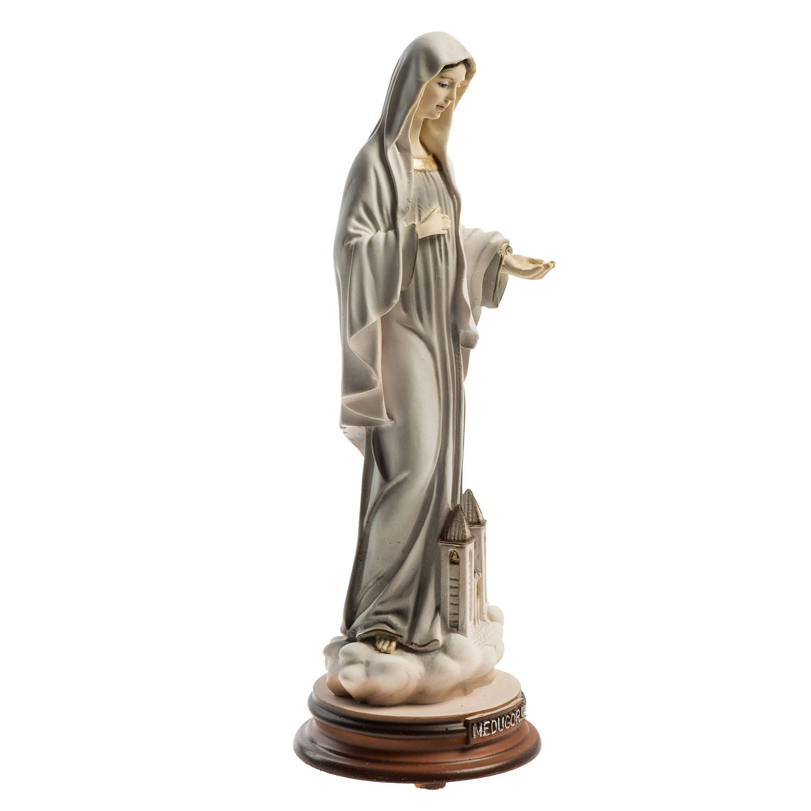 Medjugorje Regina Pacis statue with church 21cm 4