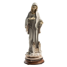 Medjugorje Regina Pacis statue with church 21cm s1