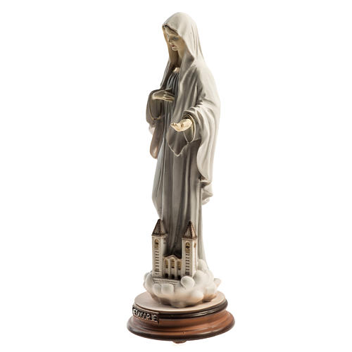 Medjugorje Regina Pacis statue with church 21cm 3