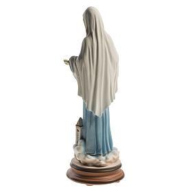 Estatua azul Reina de la Paz con iglesia Medjugorje 21 cm s4