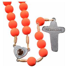 Rosario fimo color anaranjado tierra de Medjugorje s2