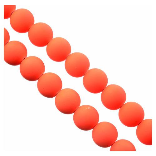 Różaniec fimo pomarańczowy ziemia z Medjugorje 3