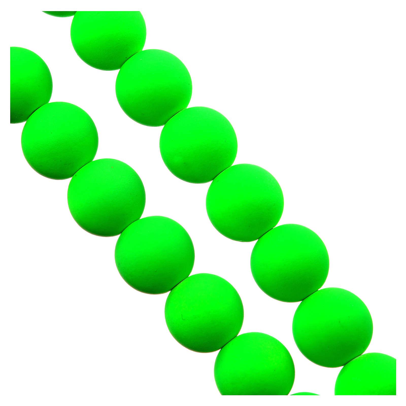 Chapelet terre de Medjugorje en fimo vert pomme 4