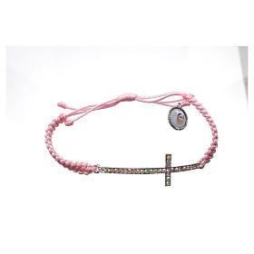 Bracciale Medjugorje corda rosa e Swarovski s3