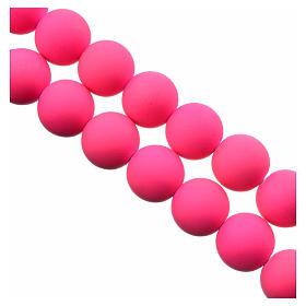 Rosario de fimo color rosado Tierra del Medjugorje s3
