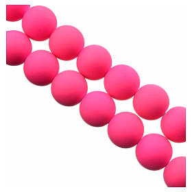 Medjugorje rosary in pink fimo s3