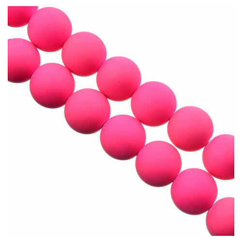 Medjugorje rosary in pink fimo 3