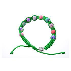 Bracciale fimo Medjugorje corda verde s1