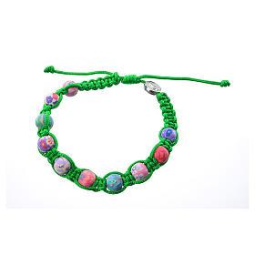 Bracciale fimo Medjugorje corda verde s2