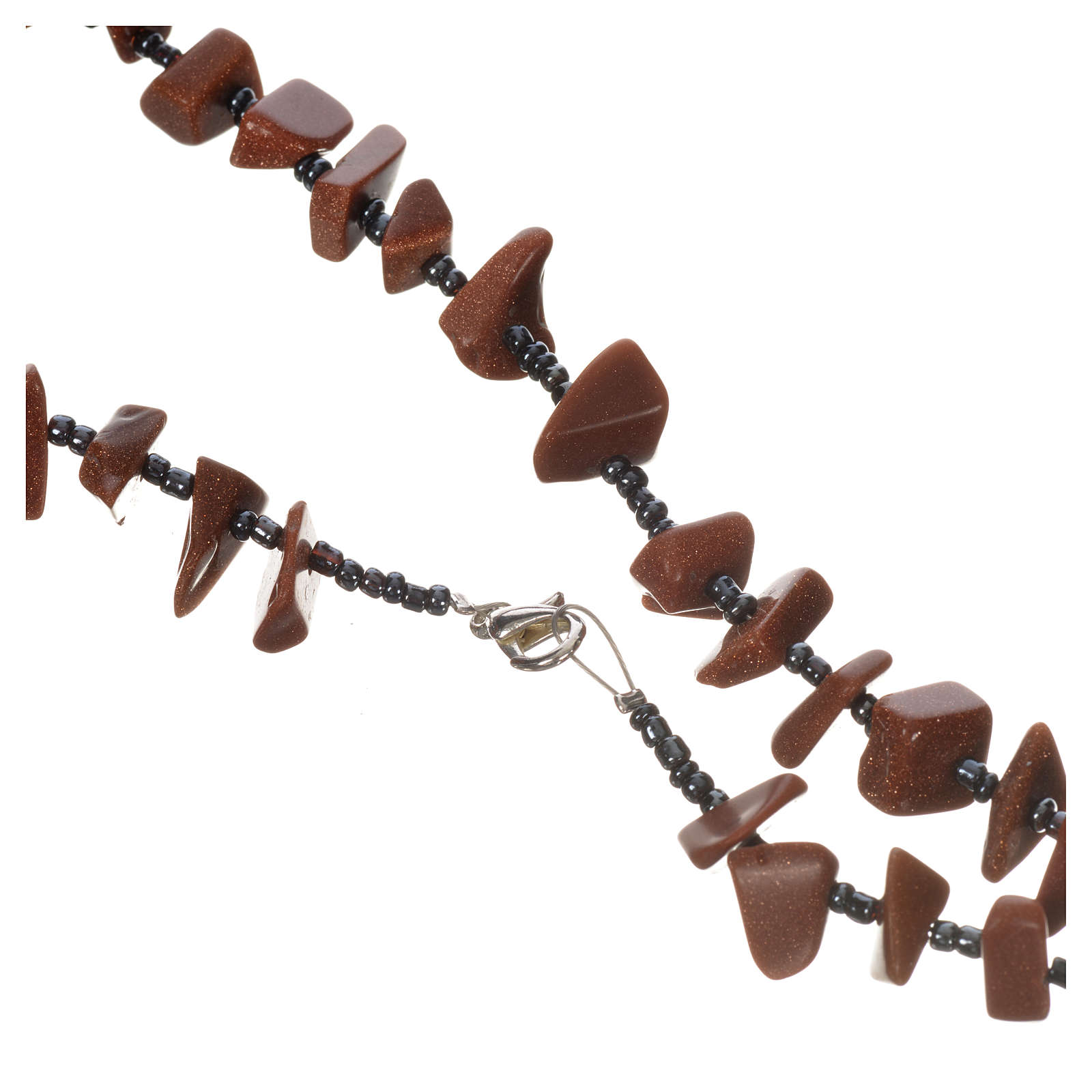 Medjugorje rosary beads in brown hard stones 4