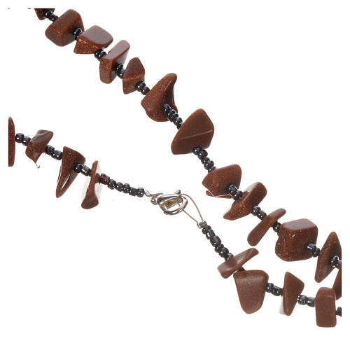 Medjugorje rosary beads in brown hard stones 2