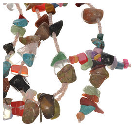 Medjugorje rosary beads in multicoloured hard stones s4