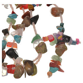 Medjugorje rosary beads in multicoloured hard stones s1