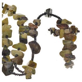Chapelets et boîte chapelets: Chapelet Medjugorje pierre dure virée au vert
