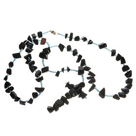 Medjugorje rosary beads in black hard stones s3
