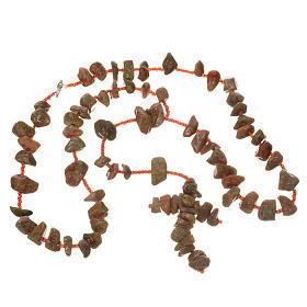 Rosario Medjugorje pietra dura color marmo rosso s3