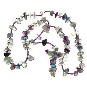 Medjugorje rosary beads in sea green hard stones s3