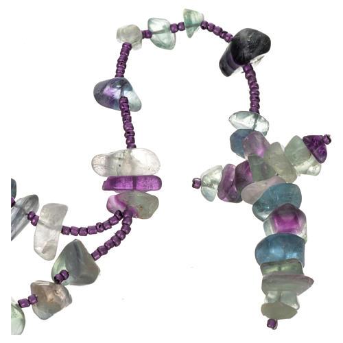 Medjugorje rosary beads in sea green hard stones 1