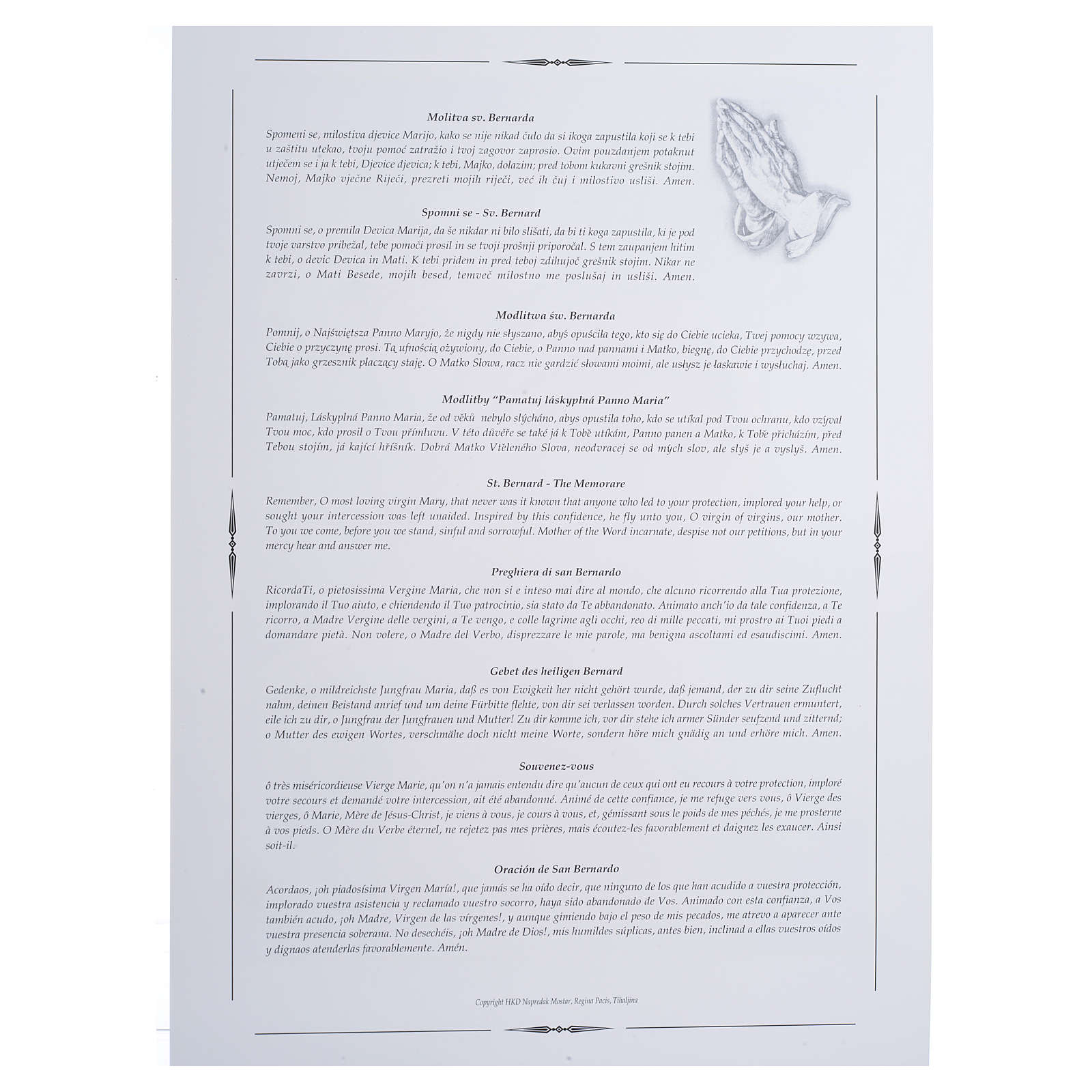 Stampa Medjugorje Regina Pacis 34x24 cm 4