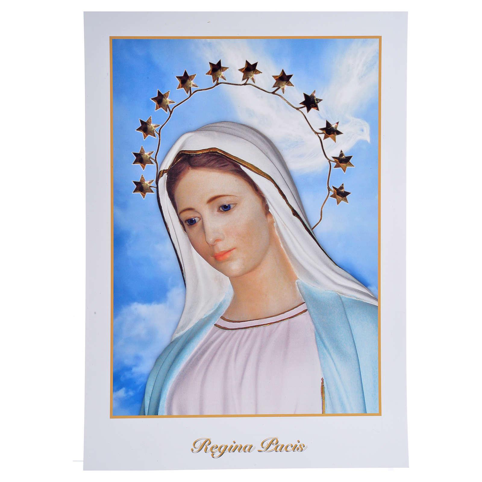 Impressão Medjugorje Rainha da Paz 34x24 cm 4