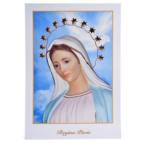 Impressão Medjugorje Rainha da Paz 34x24 cm 1