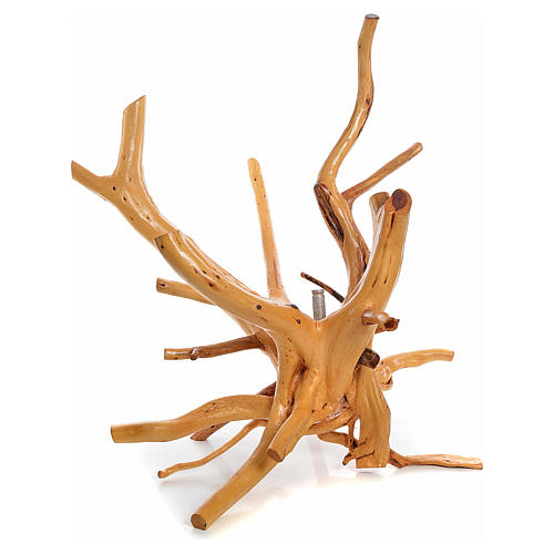Crucifijo Medjugorie en madera de abeto en Raíz h tot 133 cm 5