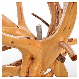 Crocifisso Medjugorje in legno d'abete su radice h tot 133 cm s6
