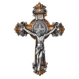 Crocifisso Medjugorje di San Benedetto 26x18 cm s1