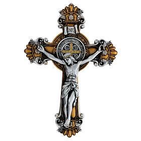 Crocifisso Medjugorje di San Benedetto 26x18 cm