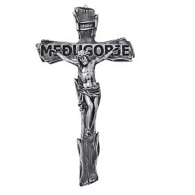 Crucifix, Medjugorje in resin and body in metal 44x24cm s1