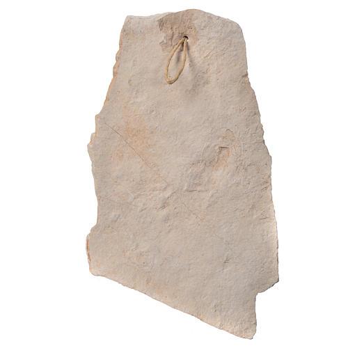 Quadro pietra Medjugorje Madonna Bimbo 33x19 2
