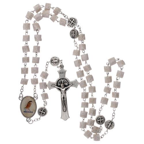 Chapelet Medjugorje Christ Miséricordieux pierre blanche 4