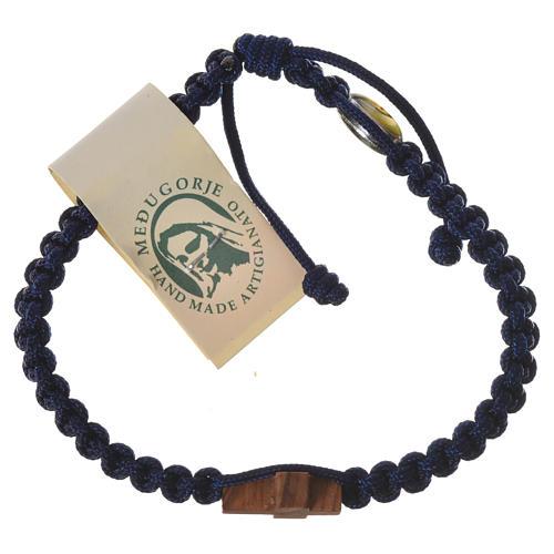 Medjugorje bracelet, cord, olive wood cross 5