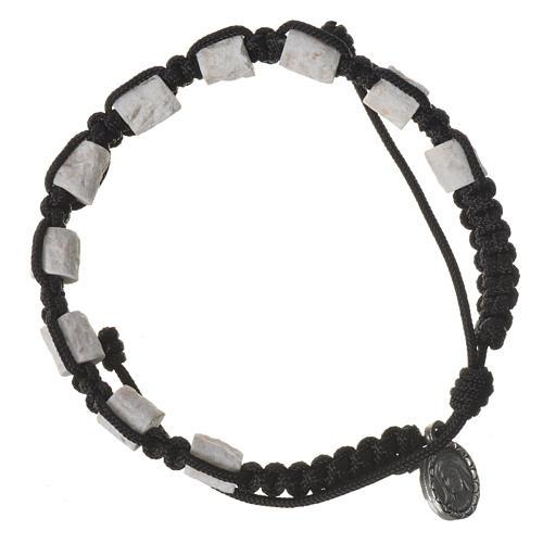 Medjugorje single-decade bracelet, stone and black cord 1